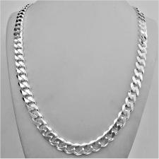Sterling silver solid diamond cut curb necklace 10mm x 3mm. LENGHT 60 CM.