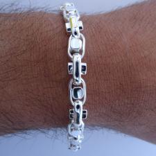Handmade solid silver bracelet made in Italy