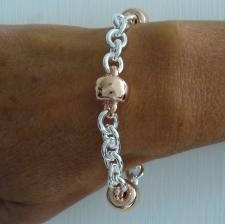 Sterling silver bracelet rose gold plated