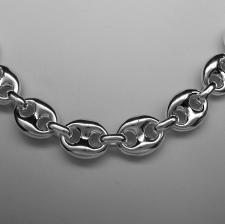 Handmade silver necklace marina link chain