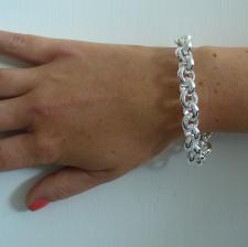 Bracciale argento rolo tondo 12mm - Bracciale donna argento 925