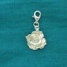 Ciondolo rosa in argento 925 - Charme argento rosa