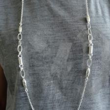 Collana lunghezza 1 metro in argento 925