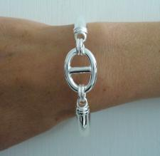 Silver bangle bracelet made in Italy