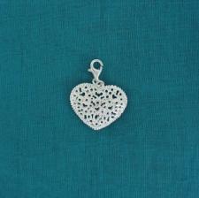 Ciondolo cuore in argento 925 - Charme in argento
