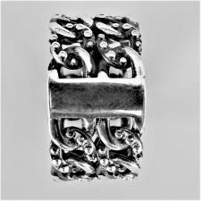 Anello argento catena grumetta puntinata uomo