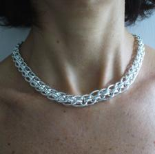 Collana in argento anni 70 80