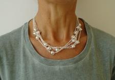 Collana in argento 925 massiccio.
