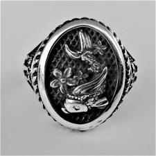 Anello argento carpa koi japanese tattoo art