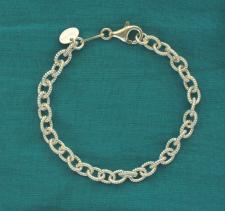 Bracciale torcion per ciondoli in argento - Bracciale charms argento