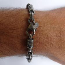 Argento anticato antico bracciale uomo