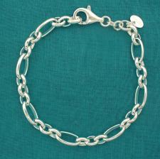 Catena argento maglie ovali alternate 6mm