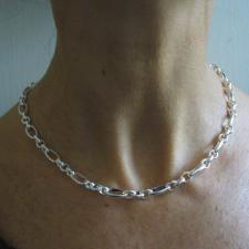 Silver figaro necklace 6mm