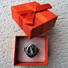 Anello uomo argento 925 principe ranocchio