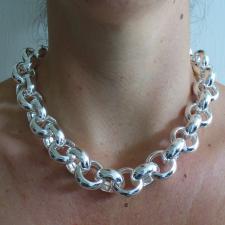 Grande Collana in argento 925 rolo tondo - Gioielli argento