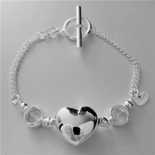 Sterling silver heart bracelet 17x15mm