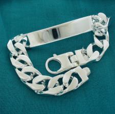 Men's id bracelet in sterling silver