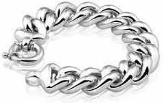 Bracciale argento 925 per donna grumetta classico intramontabile