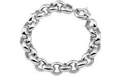 Bracciale argento 925 rolo tondo